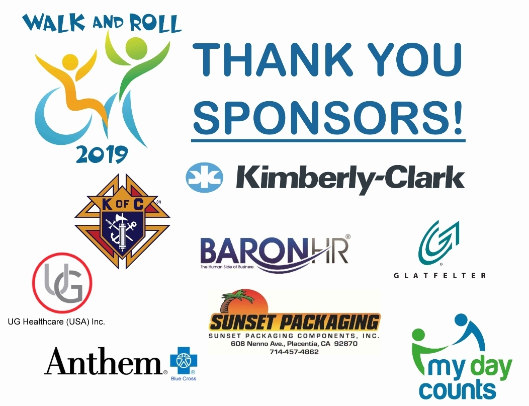 2019 Walk And Roll Sponsors