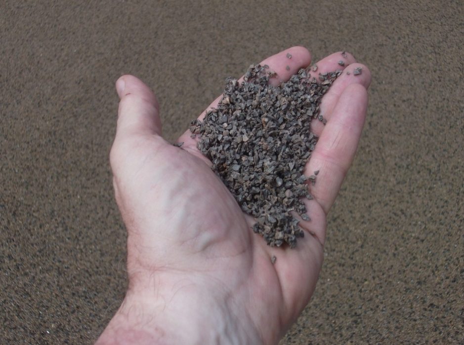 Eco-friendly: Porous Pave includes Recycled Rubber Chips from Reclaimed Tires