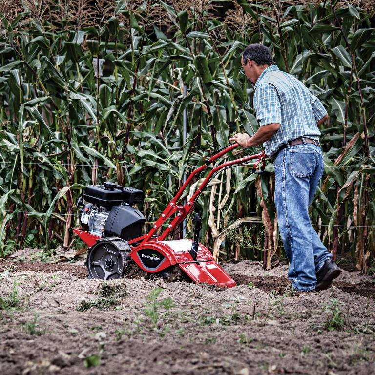Kohler engine delivers plenty of power to the Victory's counter-rotating tines