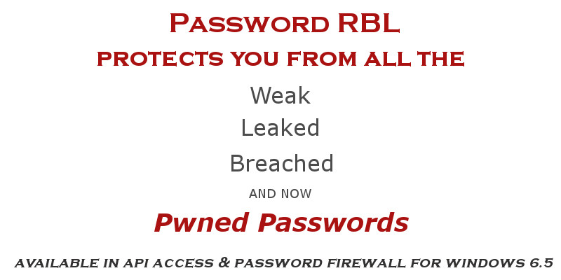 Now with Pwned Passwords