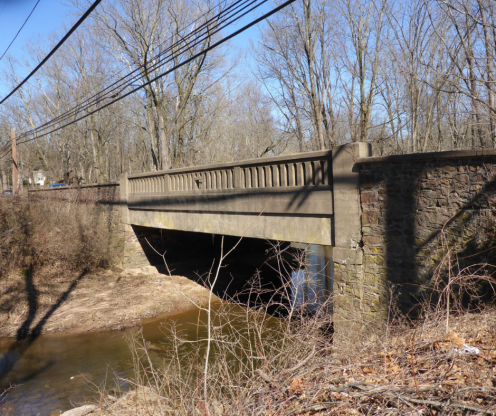 Old Easton Road Bridge Plumstead Township Before